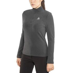 Odlo Roy 1/2 Zip Midlayer Women shale grey-black stripes